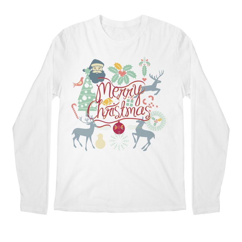 Merry Christmas Men's Longsleeve T-Shirt by Famenxt