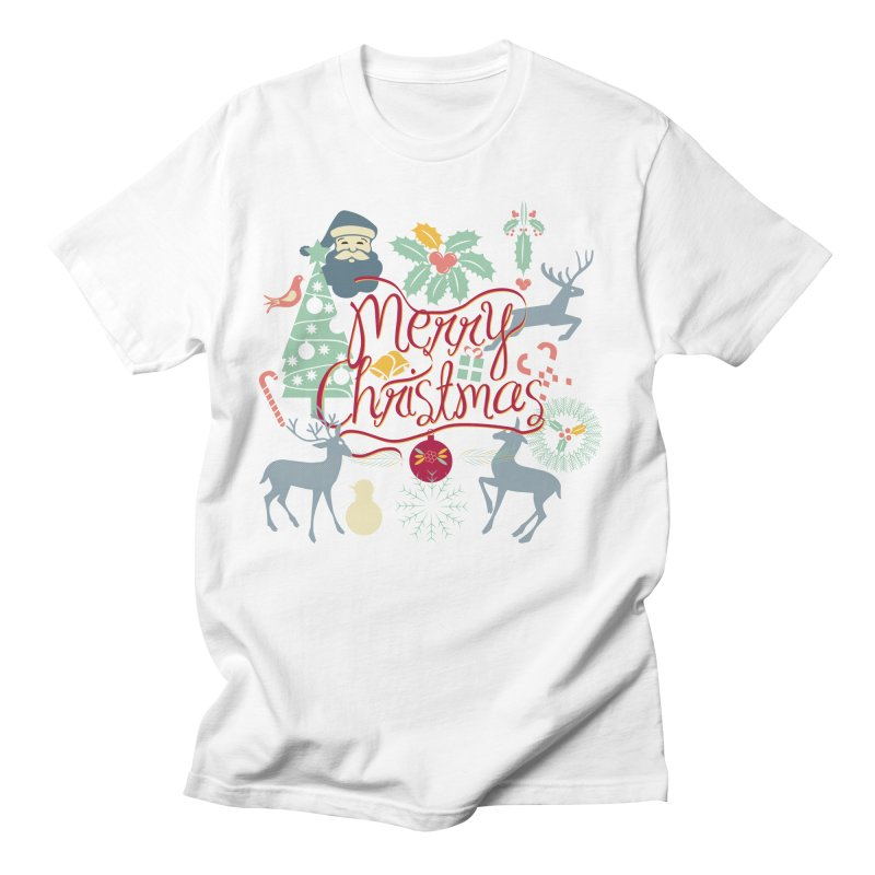 Merry Christmas Men's Regular T-Shirt by Famenxt