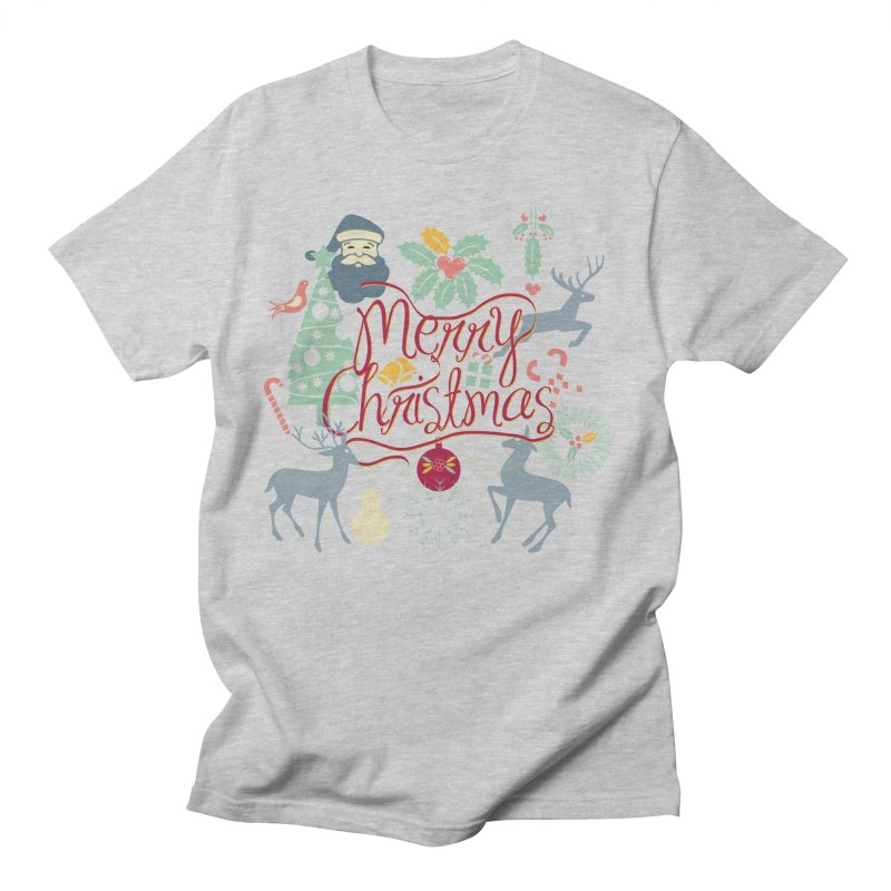 Merry Christmas Women's Regular Unisex T-Shirt by Famenxt