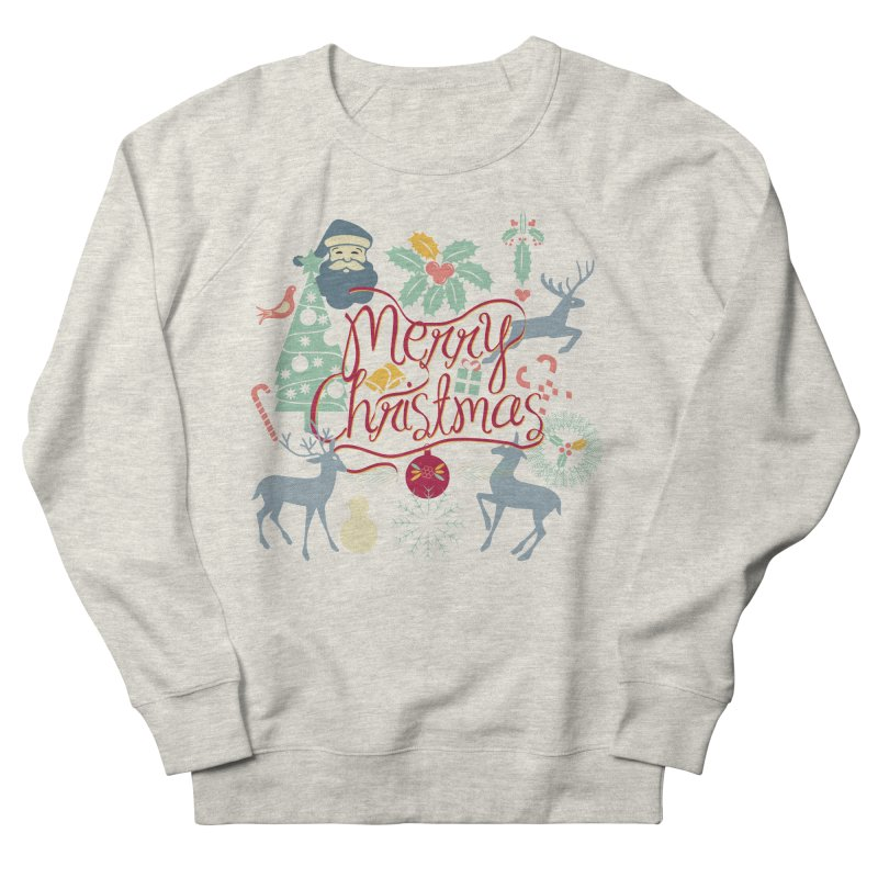 Merry Christmas Women's French Terry Sweatshirt by Famenxt