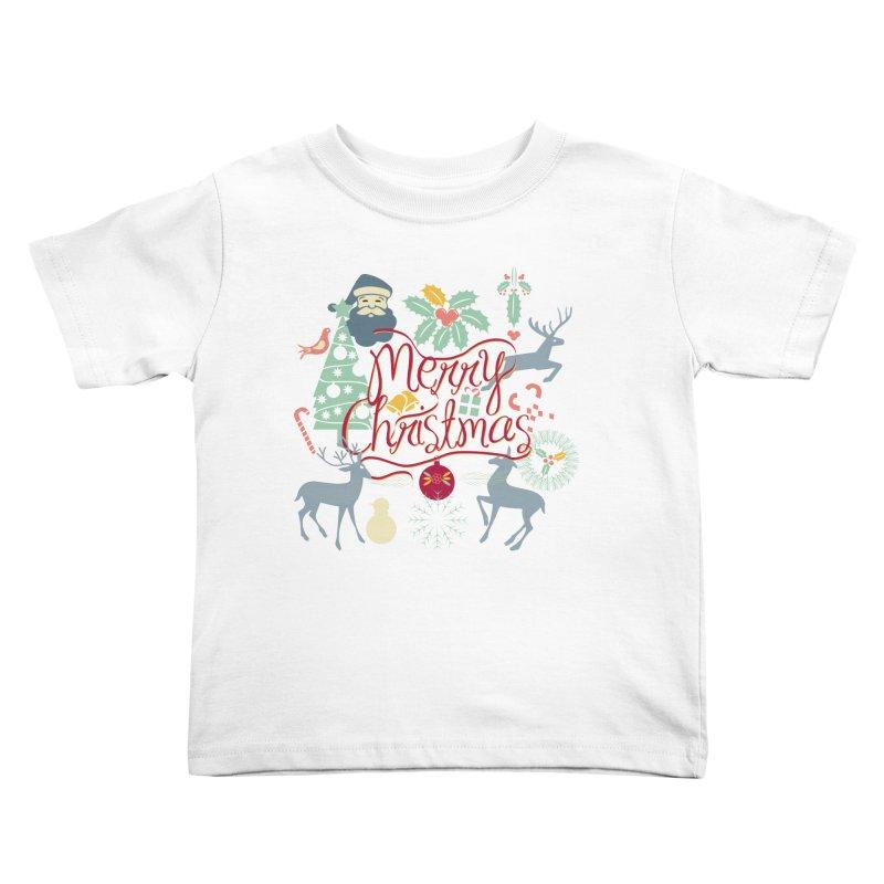 Merry Christmas Kids Toddler T-Shirt by Famenxt