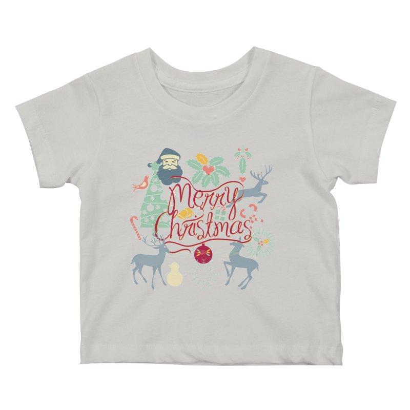 Merry Christmas Kids Baby T-Shirt by Famenxt