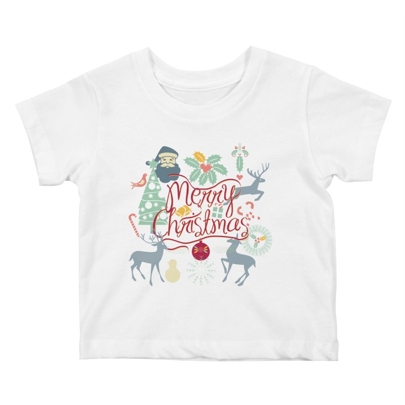 Merry Christmas Kids Baby T-Shirt by Famenxt