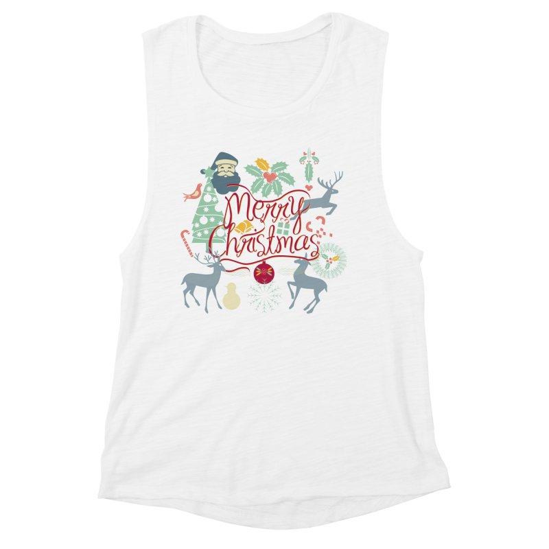 Merry Christmas Women's Muscle Tank by Famenxt