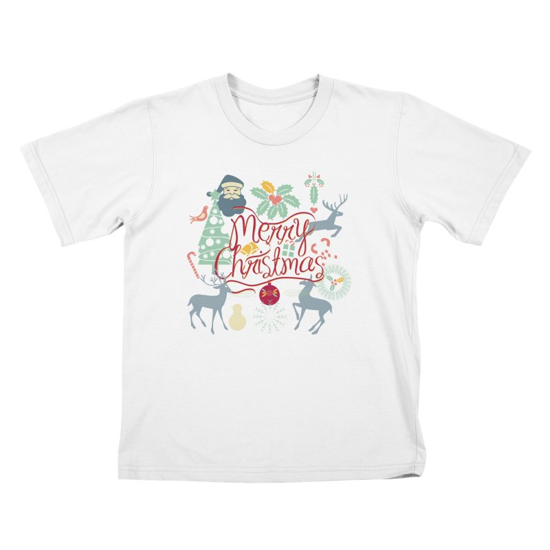 Merry Christmas Kids T-Shirt by Famenxt
