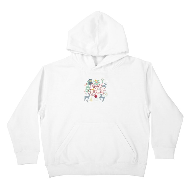 Merry Christmas Kids Pullover Hoody by Famenxt