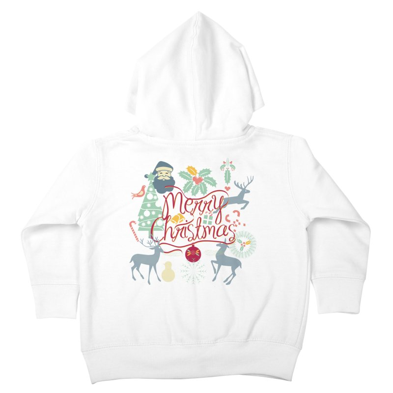 Merry Christmas Kids Toddler Zip-Up Hoody by Famenxt