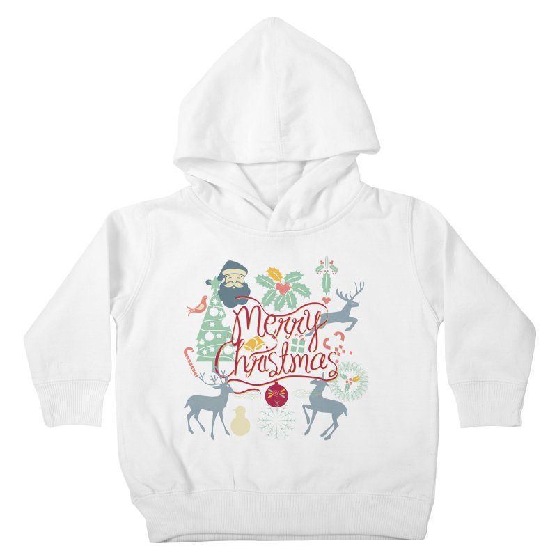 Merry Christmas Kids Toddler Pullover Hoody by Famenxt