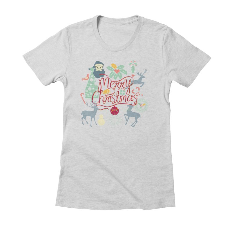 Merry Christmas Women's Fitted T-Shirt by Famenxt