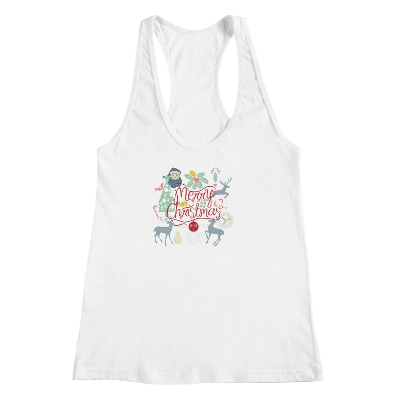 Merry Christmas Women's Tank by Famenxt