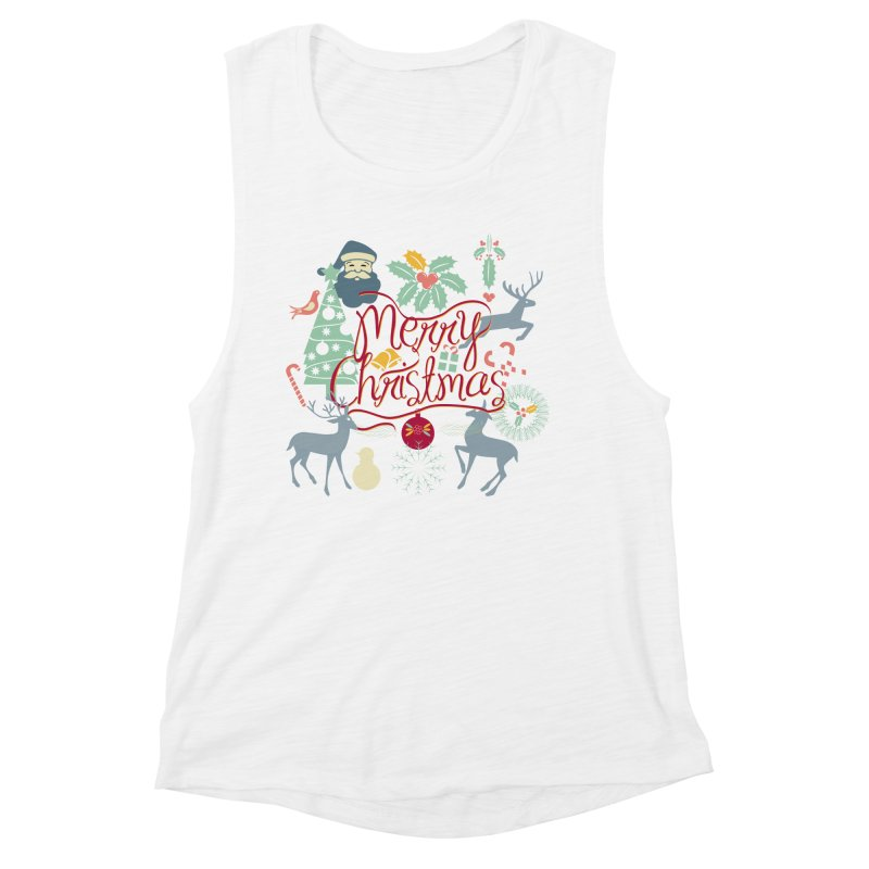 Merry Christmas Women's Muscle Tank by Famenxt