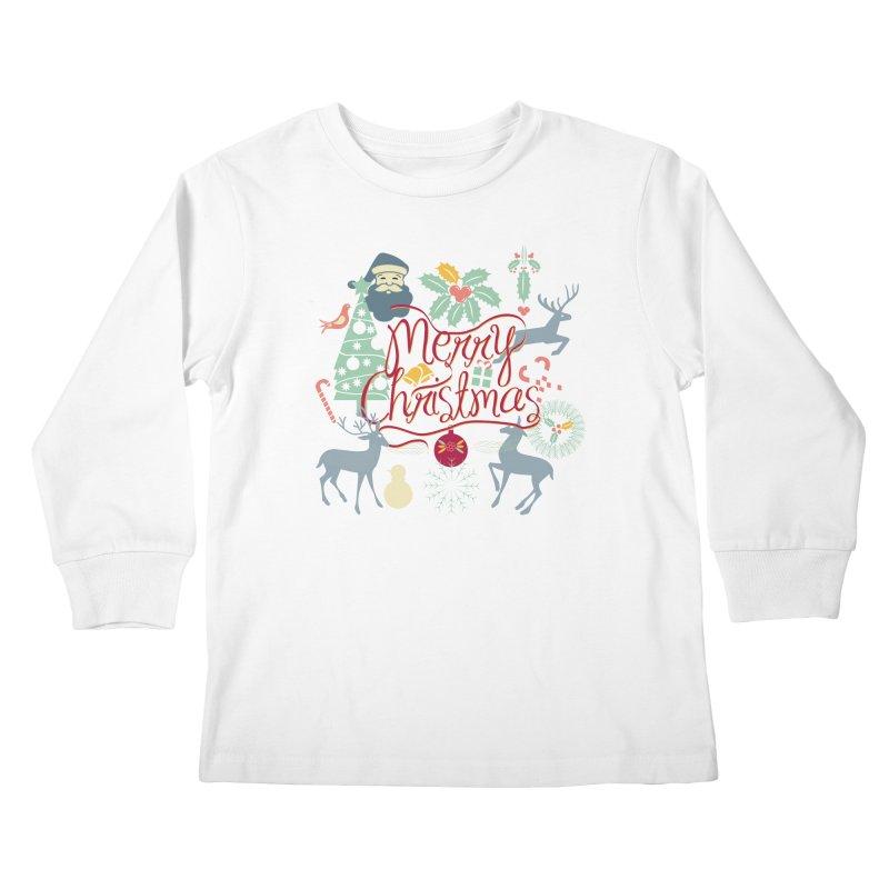 Merry Christmas Kids Longsleeve T-Shirt by Famenxt