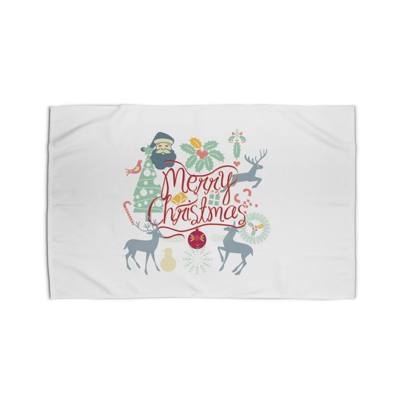 Merry Christmas Home Rug by Famenxt