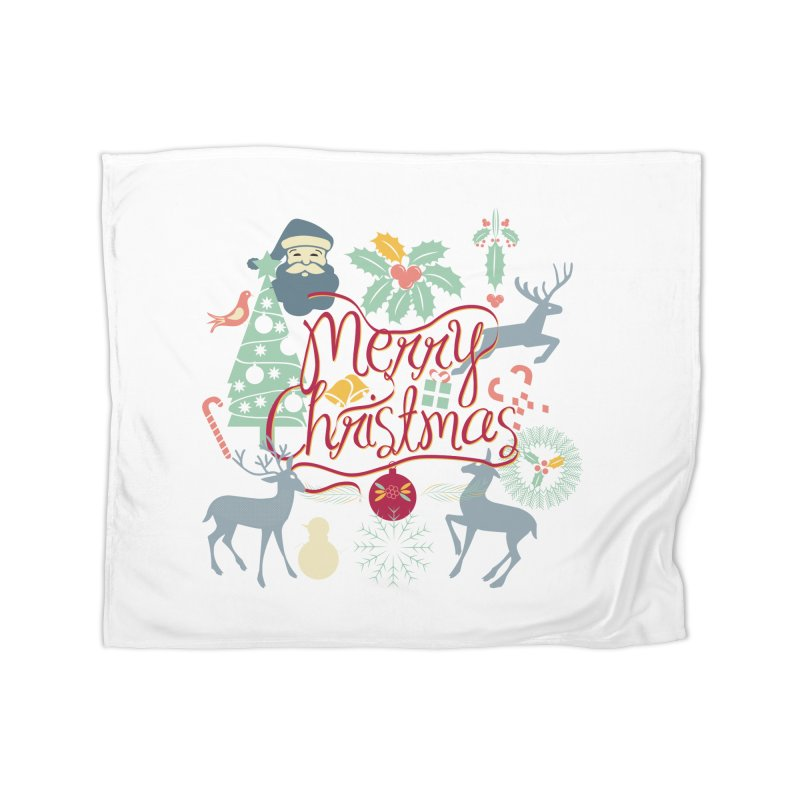 Merry Christmas Home Blanket by Famenxt