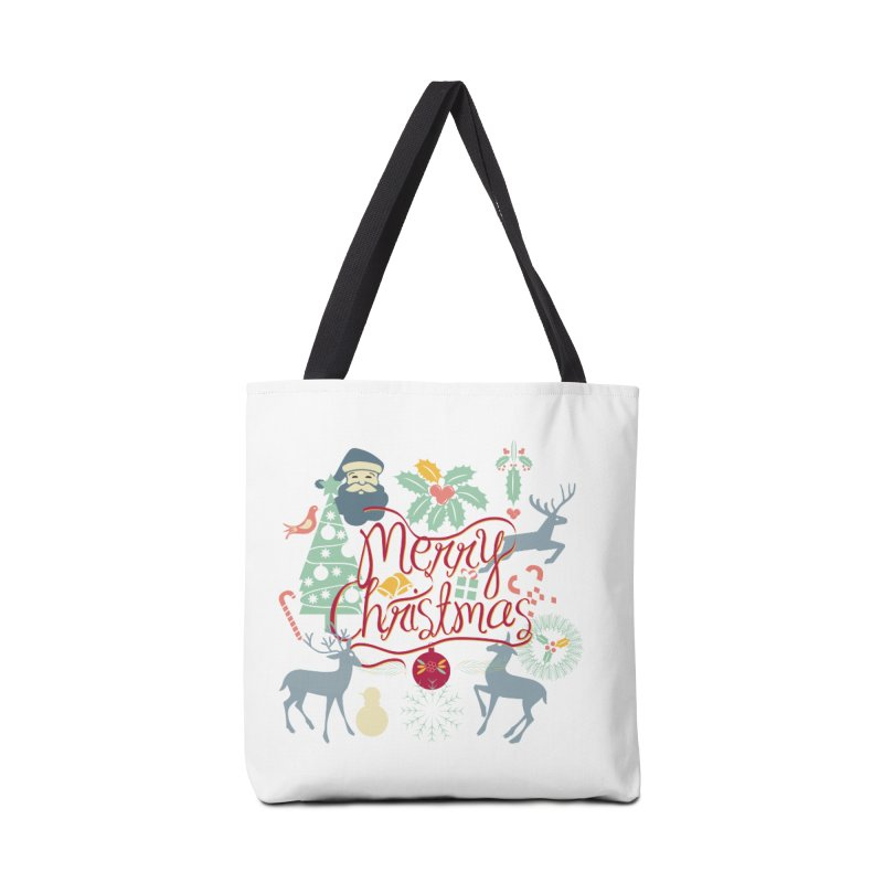 Merry Christmas Accessories Tote Bag Bag by Famenxt