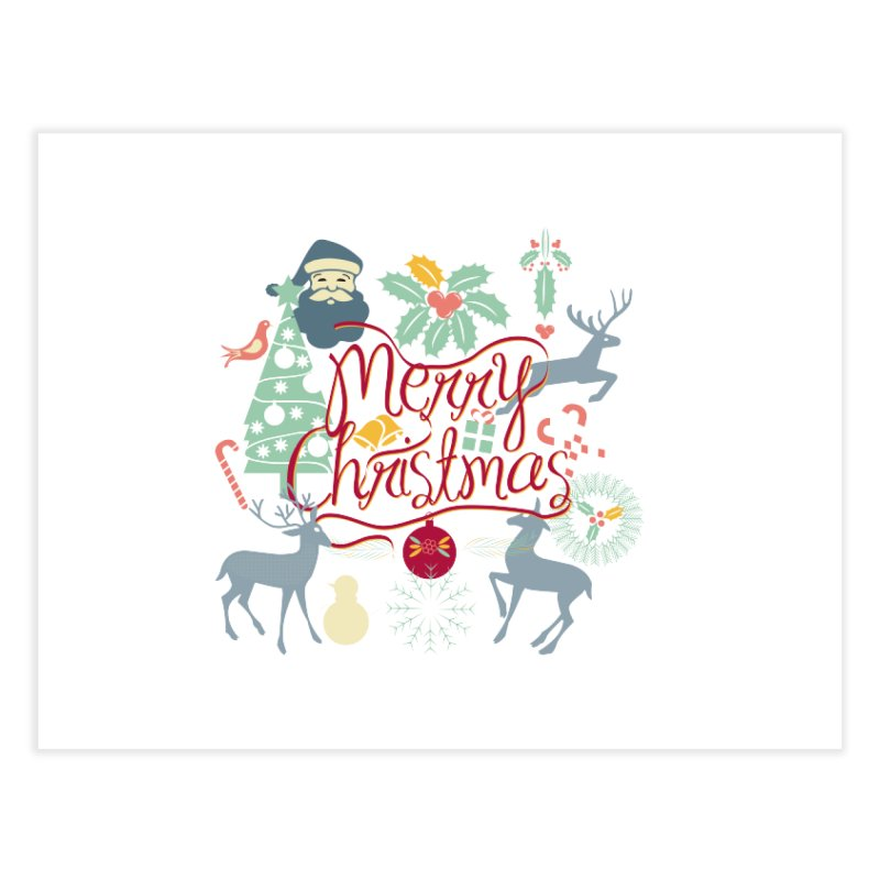 Merry Christmas Home Fine Art Print by Famenxt