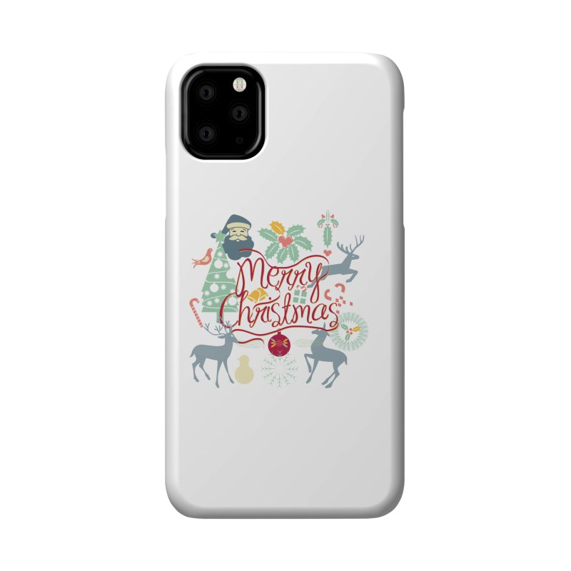 Merry Christmas Accessories Phone Case by Famenxt