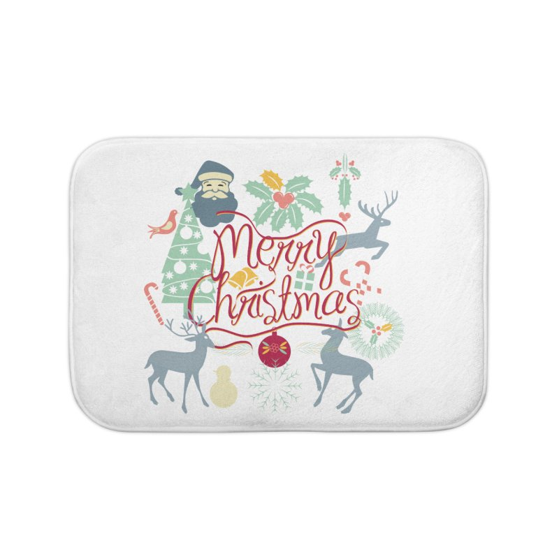 Merry Christmas Home Bath Mat by Famenxt
