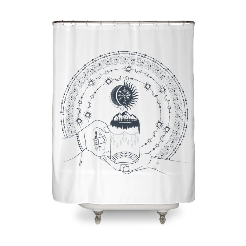 My Bohemian World from my15bohemianart Collection Home Shower Curtain by Famenxt
