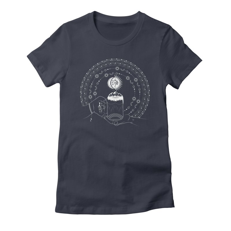 My Bohemian World from my15bohemianart Collection Women's Fitted T-Shirt by Famenxt