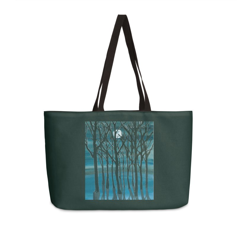 Forest Moon Accessories Weekender Bag Bag by Family Tree Artist Shop