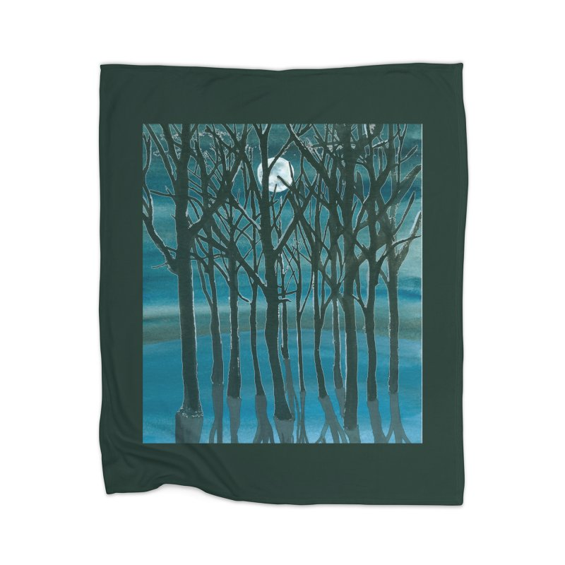 Forest Moon Home Blanket by Family Tree Artist Shop