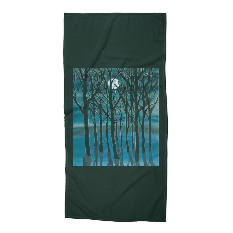Forest Moon Accessories Beach Towel by Family Tree Artist Shop