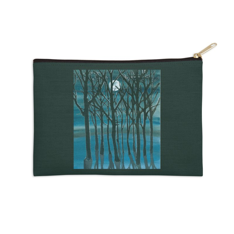 Forest Moon Accessories Zip Pouch by Family Tree Artist Shop