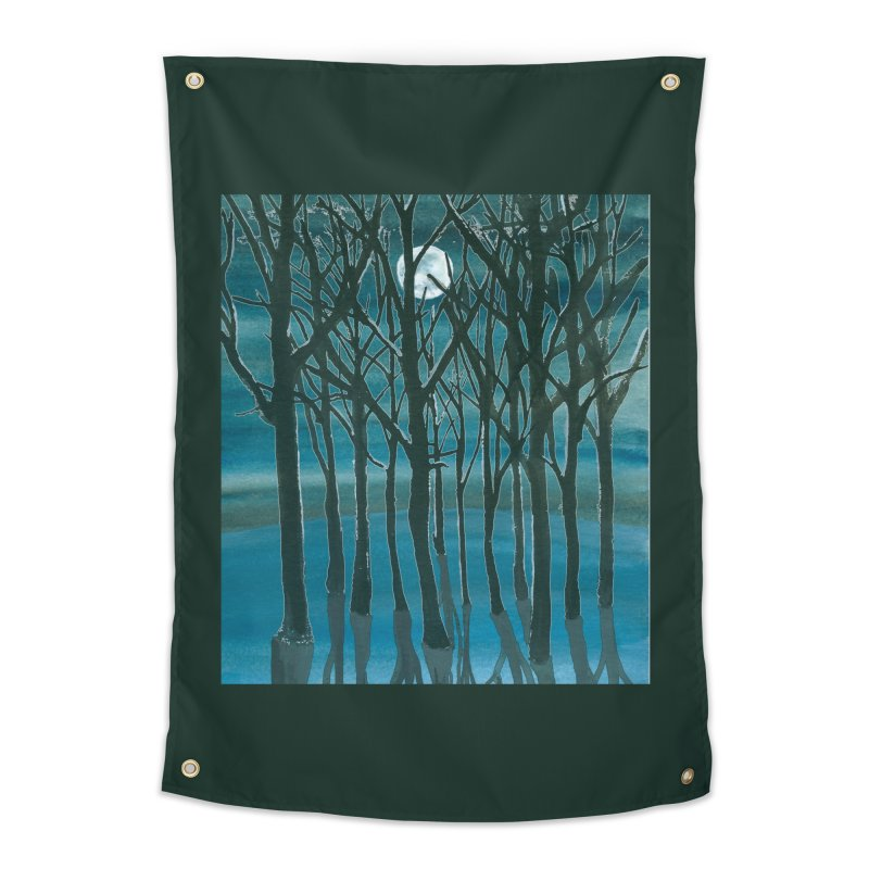 Forest Moon Home Tapestry by Family Tree Artist Shop