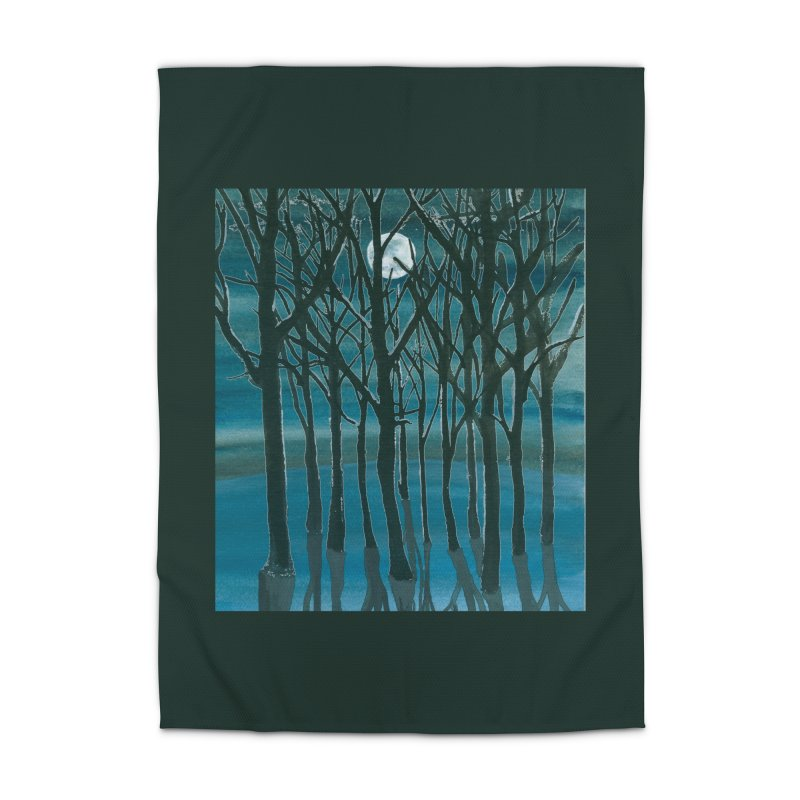 Forest Moon Home Rug by Family Tree Artist Shop