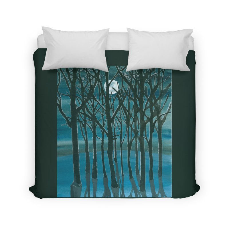 Forest Moon Home Duvet by Family Tree Artist Shop