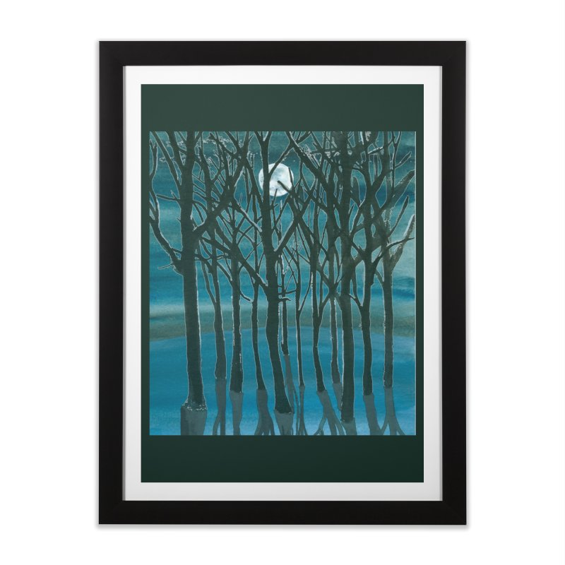 Forest Moon Home Framed Fine Art Print by Family Tree Artist Shop
