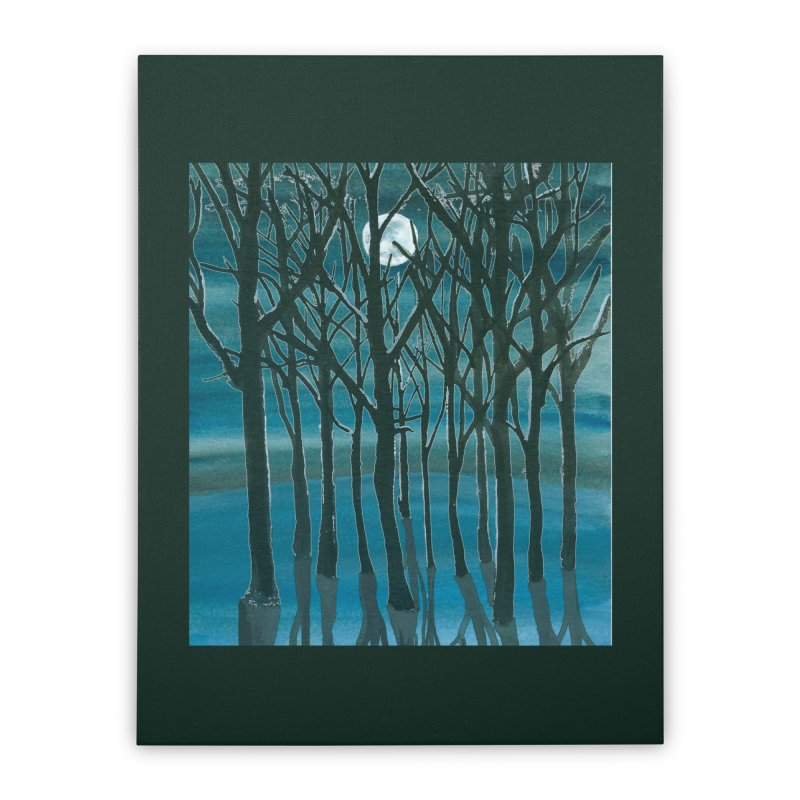 Forest Moon Home Stretched Canvas by Family Tree Artist Shop