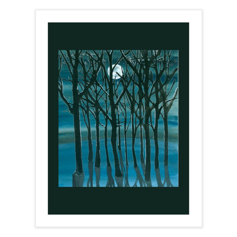 Forest Moon Home Fine Art Print by Family Tree Artist Shop