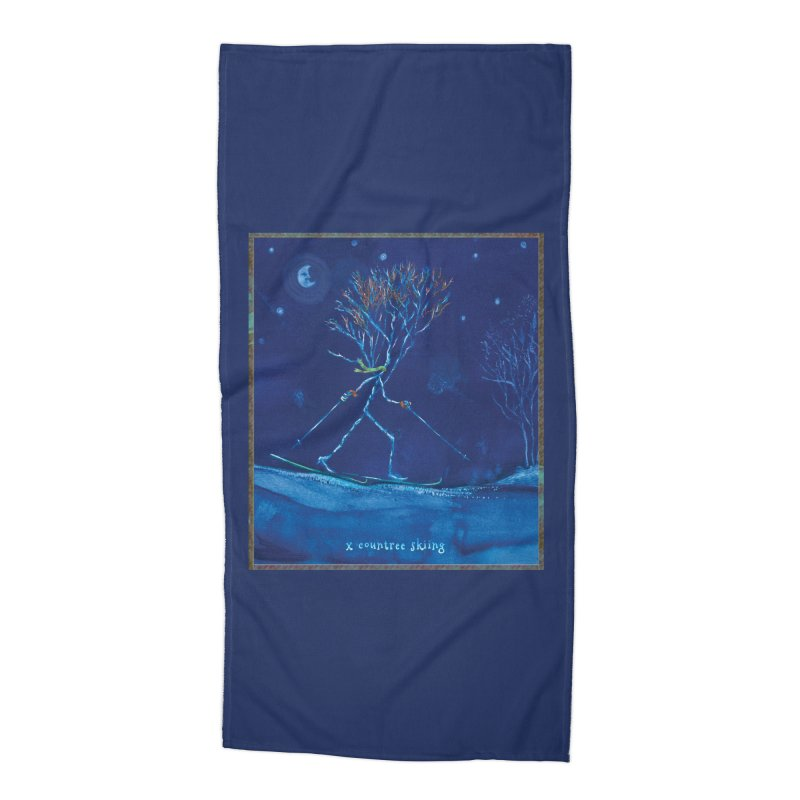 x countree Accessories Beach Towel by Family Tree Artist Shop