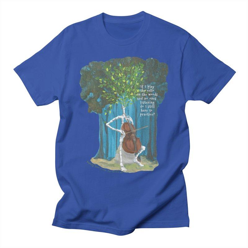 cello practice Men's T-Shirt by Family Tree Artist Shop