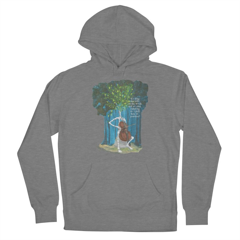 cello practice Women's Pullover Hoody by Family Tree Artist Shop