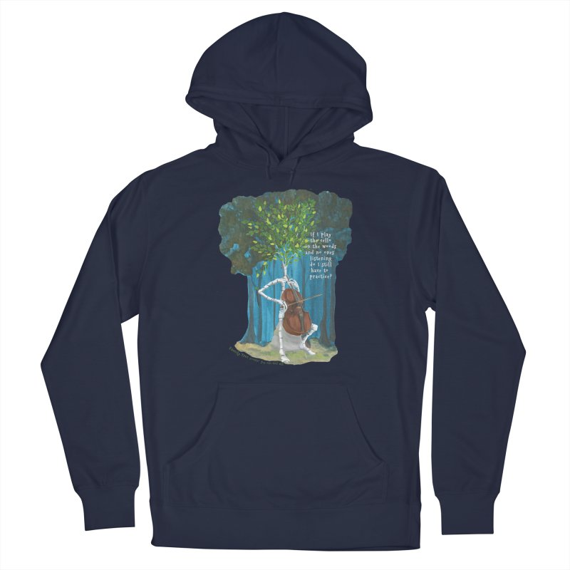 cello practice Women's French Terry Pullover Hoody by Family Tree Artist Shop