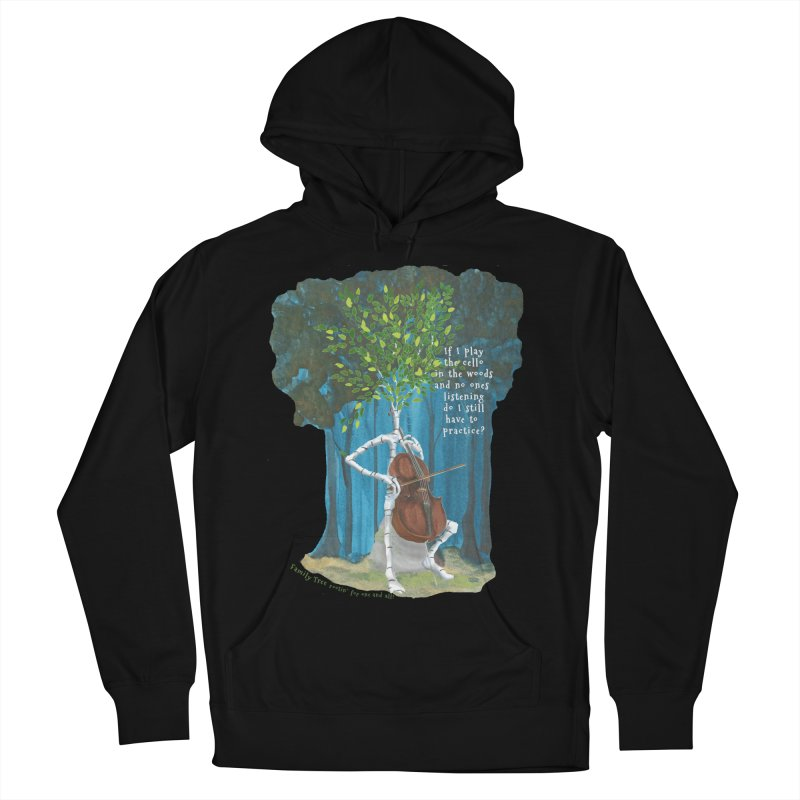 cello practice Men's French Terry Pullover Hoody by Family Tree Artist Shop