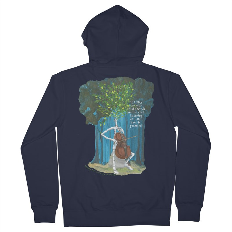 cello practice Women's Zip-Up Hoody by Family Tree Artist Shop