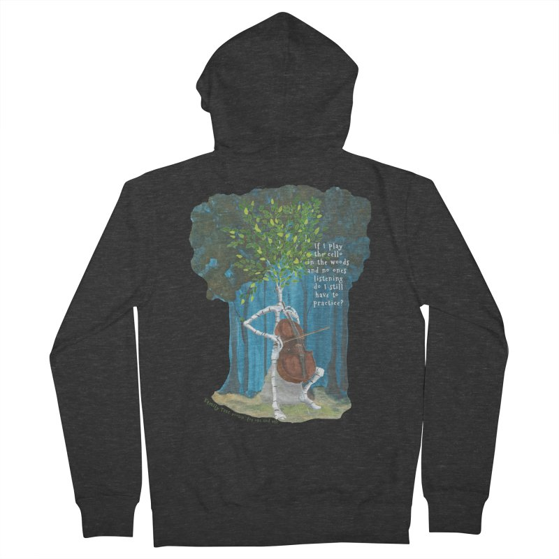cello practice Men's French Terry Zip-Up Hoody by Family Tree Artist Shop
