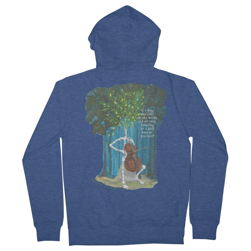 cello practice Men's Zip-Up Hoody by Family Tree Artist Shop