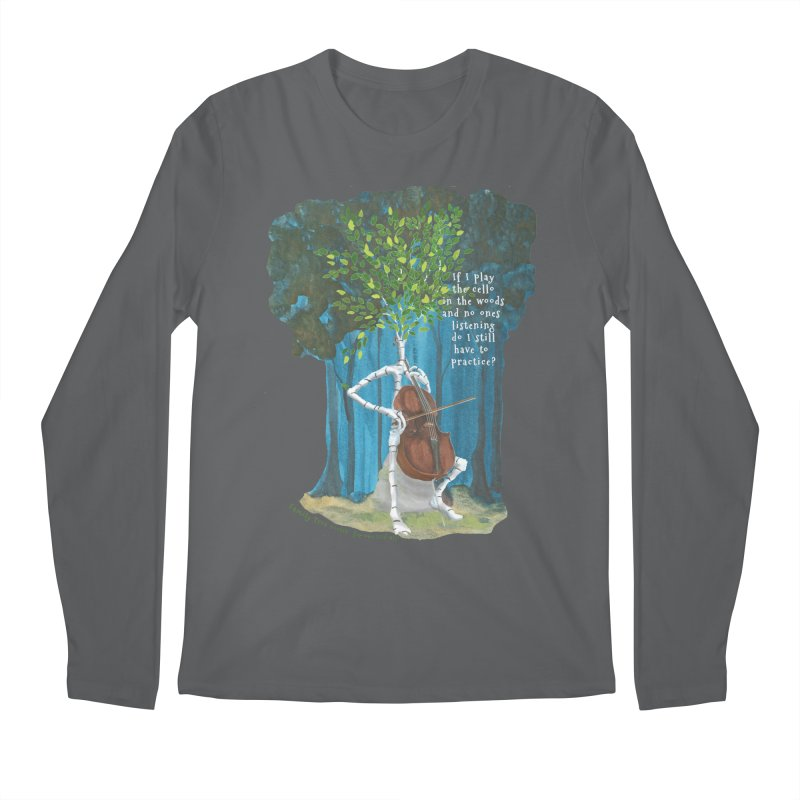 cello practice Men's Longsleeve T-Shirt by Family Tree Artist Shop