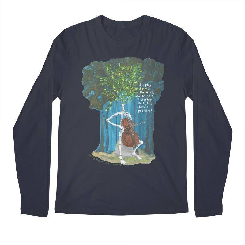 cello practice Men's Longsleeve T-Shirt by Family Tree Artist Shop