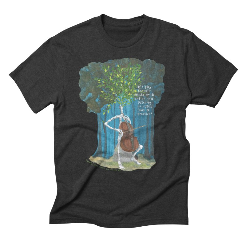 cello practice Men's T-Shirt by Family Tree Artist Shop