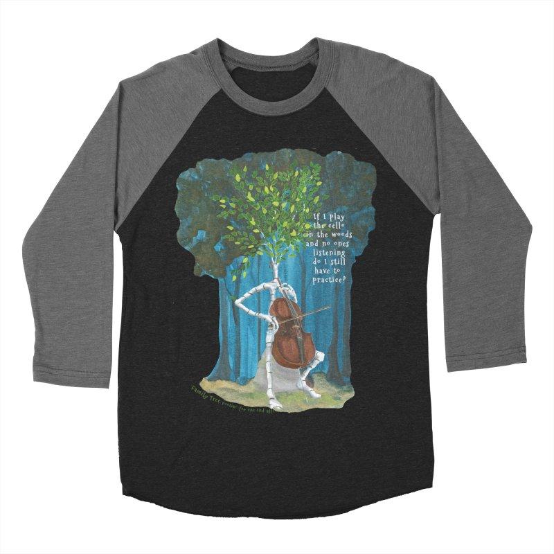 cello practice Women's Baseball Triblend Longsleeve T-Shirt by Family Tree Artist Shop