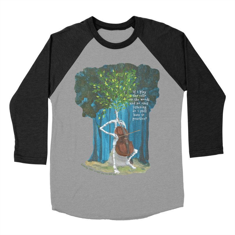 cello practice Women's Baseball Triblend Longsleeve T-Shirt by Family Tree Artist Shop