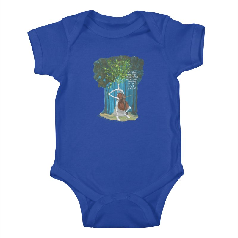 cello practice Kids Baby Bodysuit by Family Tree Artist Shop