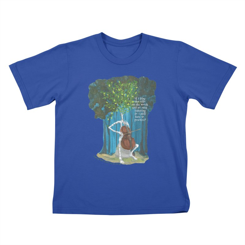 cello practice Kids T-Shirt by Family Tree Artist Shop