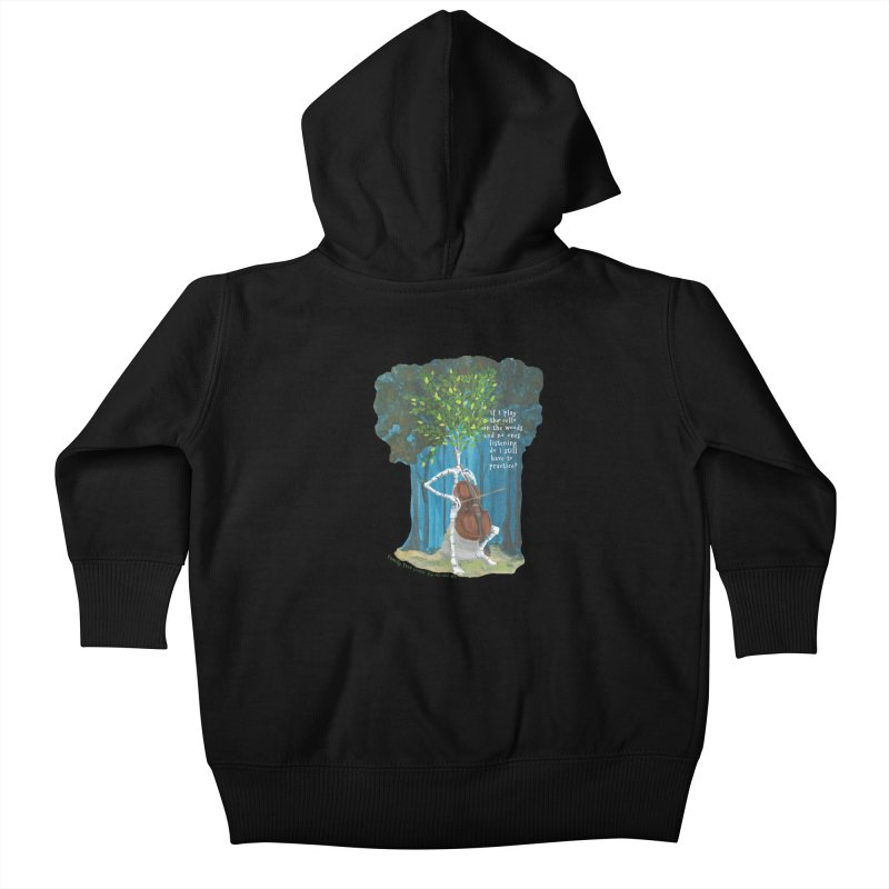 cello practice Kids Baby Zip-Up Hoody by Family Tree Artist Shop